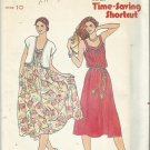 Vintage Pattern-Quick-Bonus Time-Saving Shortcut- Misses Vest & Dress-Size 10