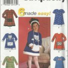 Pattern-6 Made Easy-Child's Dress & Muff -Sizes  2-3-4