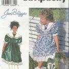 Patttern-Jan Briggs Child's Dress in Sizes 5-6-6X