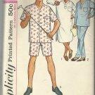 Vintage Pattern-Men's Pajamas in Two Lengths & Nightshirt-Size 38-40