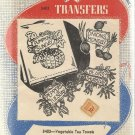 Aunt Martha's Hot Iron Transfers-Vegetable Tea Towels
