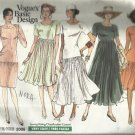 Vogue Basic Design Pattern-Very Easy Misses Dress in Sizes 12-14-16
