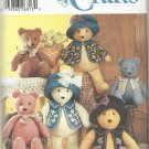 "Crafts Pattern-Elaine Heigl Designs-18"" & 22"" Bears  With Accessories"