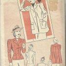 Vintage Classic Pattern-Misses Jacket Set-Unmarked Pre-cut Pattern Pieces-Sz 16