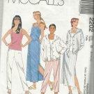 Pattern-Misses Blouson Top-Tank Top-Pull-On Pants-Skirt-Sizes 8-10-12-SUMMER