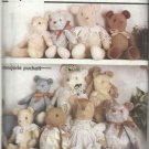 """Craft Pattern-Stuffed Bear Dolls in 3 Sizes-18 1/2""""-22""""-24"""" by Marjorie Puckett"""