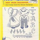 Hot Iron Transfer-Aunt Martha's-Sunbonnet Sue & Overall Bill-Embroidery-Painting