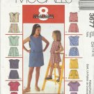 Pattern-8 Great Looks One Easy Pattern-Girl's Tops & Skorts-Sizes 7-8-10