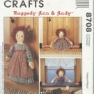 Raggedy Ann & Andy Doll Pattern-Draftbusters and Doorstop-Cute & Practical