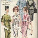 Vintage Vogue Printed Pattern--Two Piece Dress -Sz 12, Bust 32, Hip 34