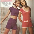 Vintage Hippy Crochet Pattern Leaflet-HOT PANTS-Columbia Minerva