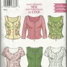 Pattern-Easy Options SIX Top Variations In One-Sizes 8-18