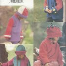Vogue Accessories Pattern-Children's Hats & Coats-Sizes 2-3-4-5-6-6X