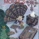 Plastic Canvas Pattern-Stained Glass Mosaics-15 Designs Create Stained Glass Loo
