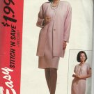 Pattern-Stitch N Save-Missses Unlined Cardigan & Dress in Sizes 10-12-14  Easter