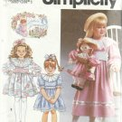 Pattern- Julie's Journey-Child's Dress & Doll With Matching Dress-Size 2-4