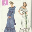 Vintage 70's Style Pattern-Misses Top-Slip-Skirt In Size 12