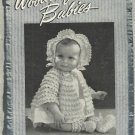 Vintage Crochet Pattern Booklet-Woolies For Babies-Chadwick's Red Heart Wools