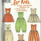 Pattern-New Look for Kids-Easy Options Button On New Top Or Bottom-Sz 1/2-4