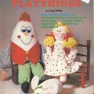 Pattern Booklet-Soft Sculpture Playthings-Easy To Make Stuffed Toys-Bear-Mouse