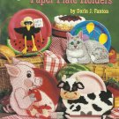 Plastic Canvas Pattern Booklet-Paper Plate Holders-Cat-Pig-Cow-Crow