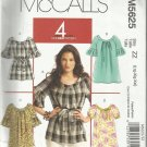 McCall's Pattern-4 Great Looks One Easy Pattern-Misses Tops-Belt-Tunics- Sz Lrg-Xlg-Xxl