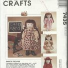 "Doll Clothes Pattern-Fits 18"" Doll Such As AMERICAN GIRL-Dresses-Coat & Hat"