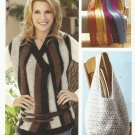 Vanna's Lifestyle-2 Knit & 7 Crochet Designs-Scarf-Tote-Afghans-Shrug-Vest-Purs