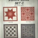 Mini Quilt Pattern Series-Set C-Lone Star-Irish Chain-Milky Way-Flying Geese