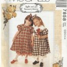 McCall's Ruffles & Lace Pattern-Children's Dress-Petticoat-Headband  Sz 2-3-4