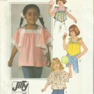 Vintage Pattern-Child's JIFFY Pullover Tops In Sizes 6-6X- SUMMER