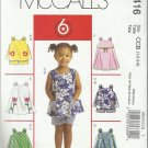 McCall's 6 Great Looks Pattern-Toddlers Tops-Dresses & Shorts-Sizes 1-2-3-4