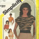Vintage Pattern-Misses Pullover Tops In Size 10    SUMMER