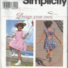 Simplity Pattern-Design Your Own Child's Dress & Romper-Sz 3-4-5-6