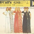 Vintage McCall's Carefree Pattern-Misses Dress Or Top & Pants in Size 10