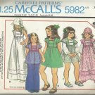 Vintage McCall's Carefree Pattern-Girl's Dress Or Top-Hat-Basket  Size 7  Cute!