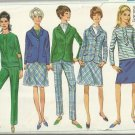 Vintage Pattern-Junior Jacket-Overblouse-Skirt-Pants in Size 9, Bust 30 1/2