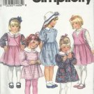 Pattern-Child's Dress or Top & Pinafore in Sizes 5-6X