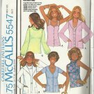 Vintage McCall's Carefree Pattern-Misses Cardigan & Set of Tops-Sz 16  Knits Onl