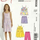 McCall's Pattern-Easy Stitch N Save-Children's Top-Dress-Shorts-Pants-Sz 3-4-5-6