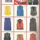 Plus Size Butterick Pattern-9 Sew Fast & Easy- Misses Vest-Sizes 20-22-24  Uncut
