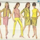 Vintage Pattern-Misses 1-Piece Dress-Overblouse-Slacks-Skirt In Size 10, Bust 31