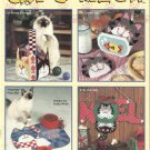 Plastic Canvas Pattern Booklet-CAT'S MEOW.Too Cute!!!