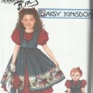 "Daisy Kingdom Pattern-Child's Dress & Pinafore & Doll Dress For 18"" Doll  3-6"