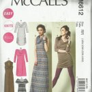 McCall's Plus Size Pattern-Easy Knit Plus-Women's Dress in Sizes 18W-20W-22W-24W