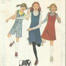 Vintage JIFFY Simplicity Pattern-Girl's Jumper & Culotte Jumper Sizes 7 & 8