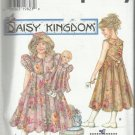 "Daisy Kingdom Pattern-Girl's Dress-Hat & Doll Clothes Fits a 17"" Doll Sz 8-14"