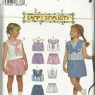 Simplicity Pattern-Camp Simplicity-Child's Set of Tops & Shorts  Sizes 5-6-6X