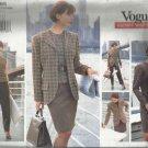 VOGUE CAREER WARDROBE PATTERN-Misses Jacket-Dress-Top-Skirt-Pants-Sizes 8-10-12