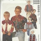 Pattern-Boy's Lined Vest and Shirts in Sizes 7-8-10